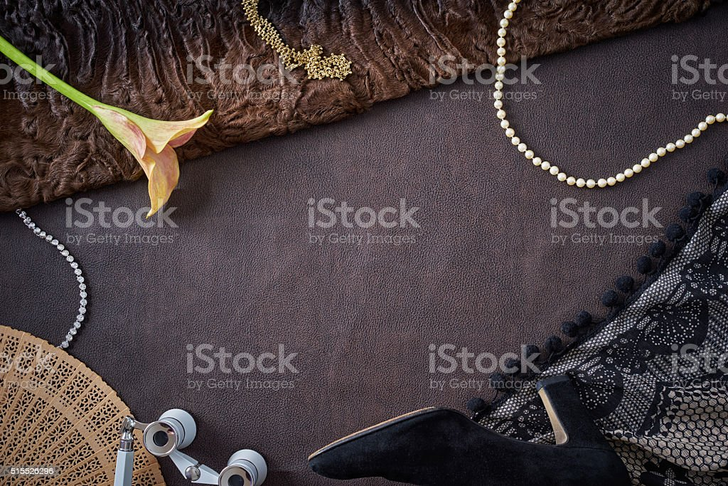 Feminine objects - visit at the opera stock photo