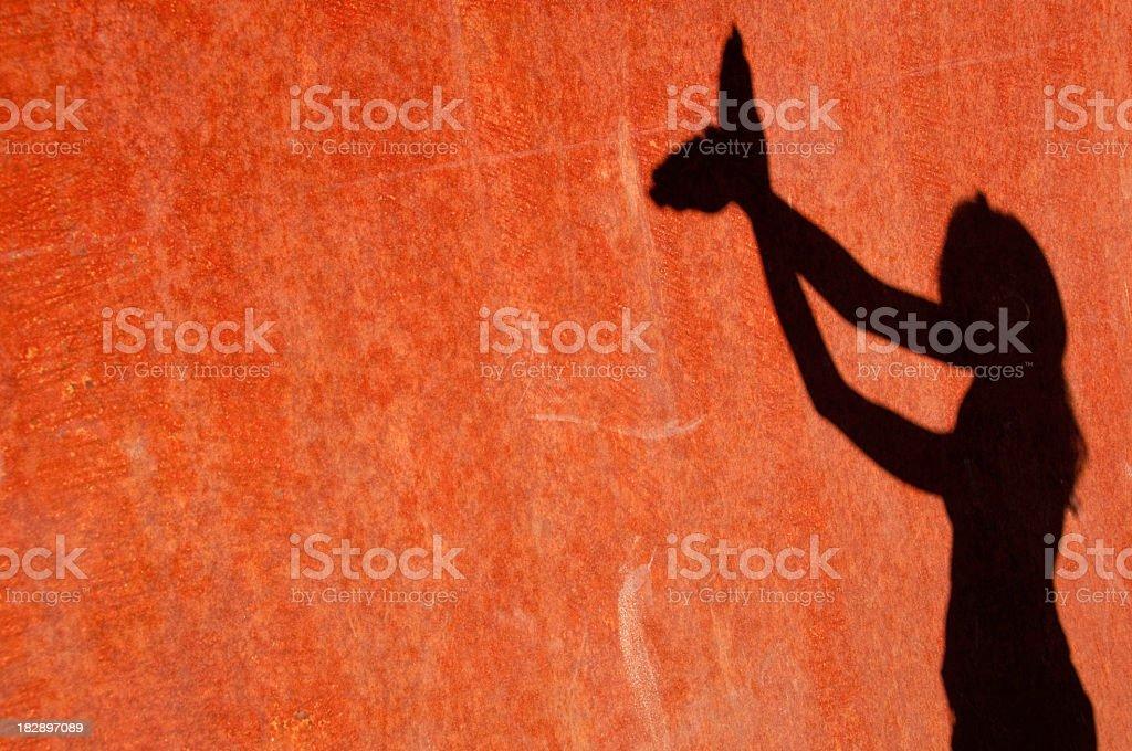 Feminine shadow of a woman stock photo