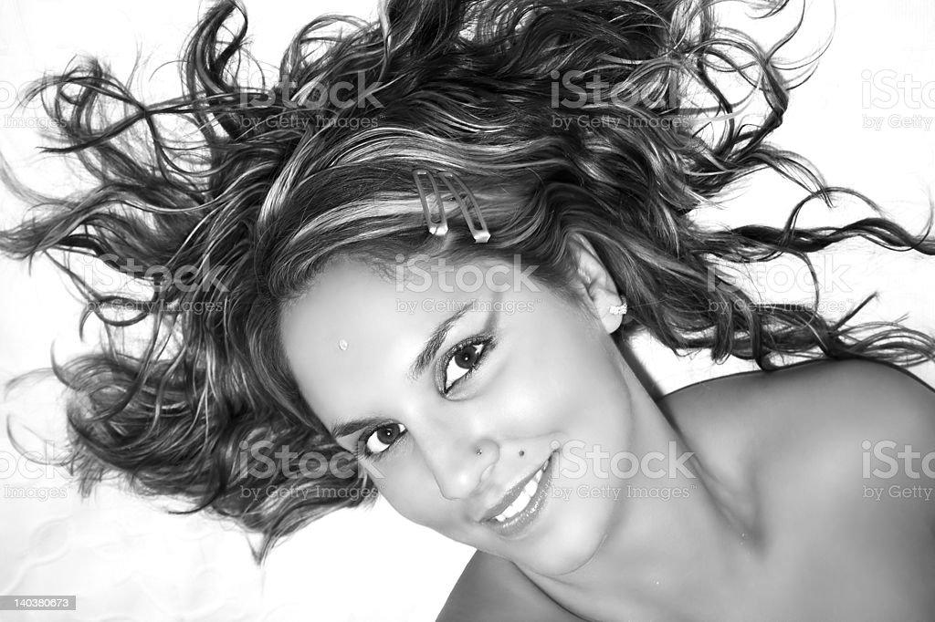'Femininity', Attractive and sexy girl royalty-free stock photo