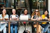 Femininity Bonding Brunch Cafe Casual Socialize Concept