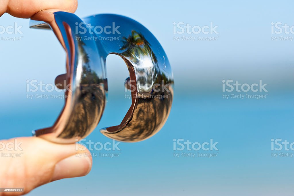 Femoral part of  total knee prosthesis stock photo
