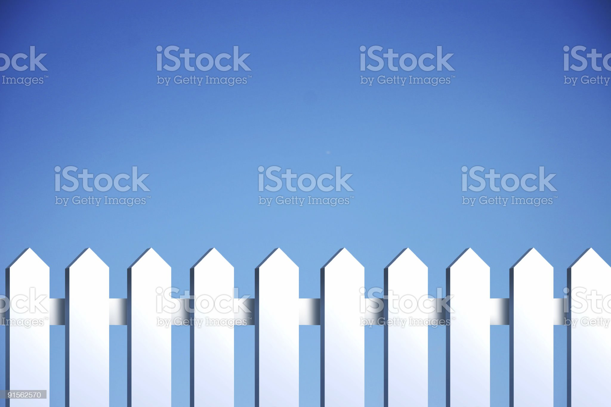fence against blue sky royalty-free stock photo