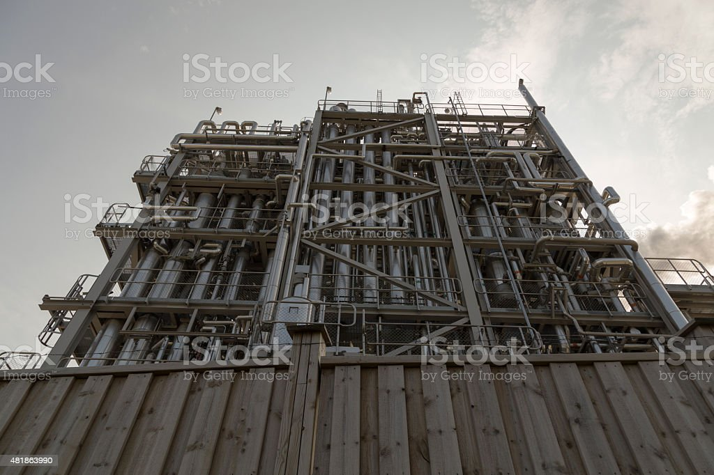 Fence and pipes royalty-free stock photo
