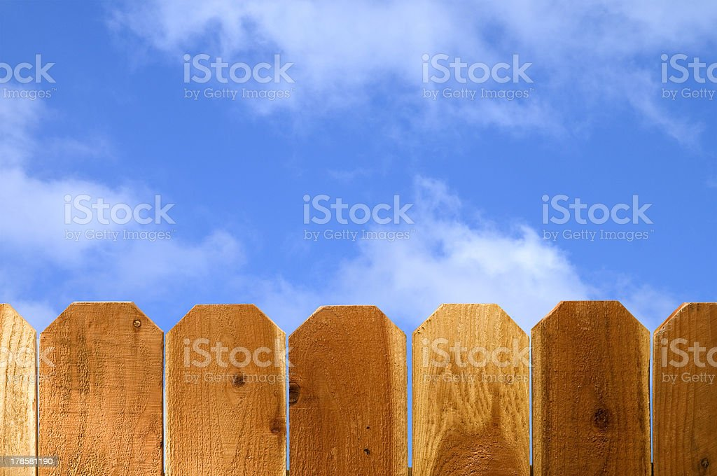 Fence and Sky stock photo