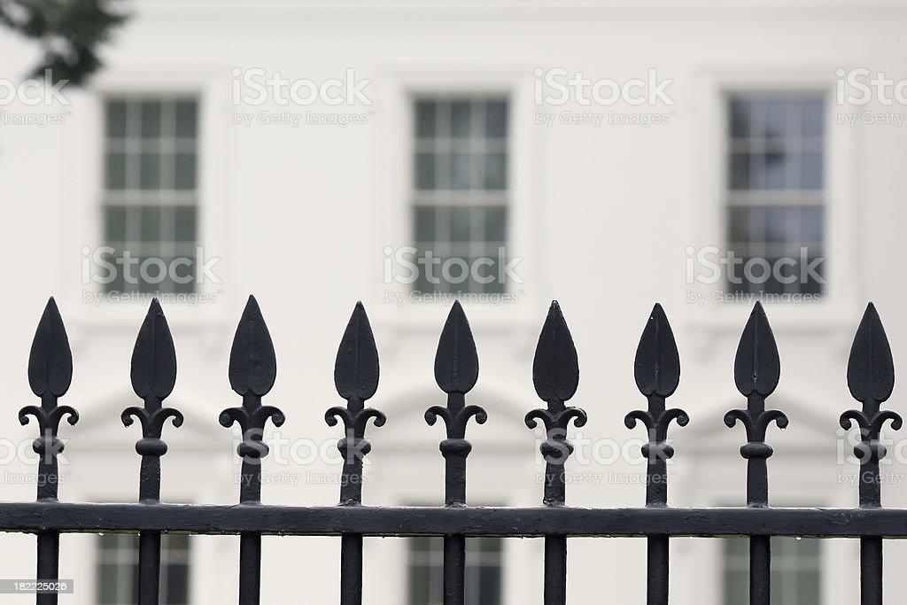 Fence around the White House, Washington DC royalty-free stock photo