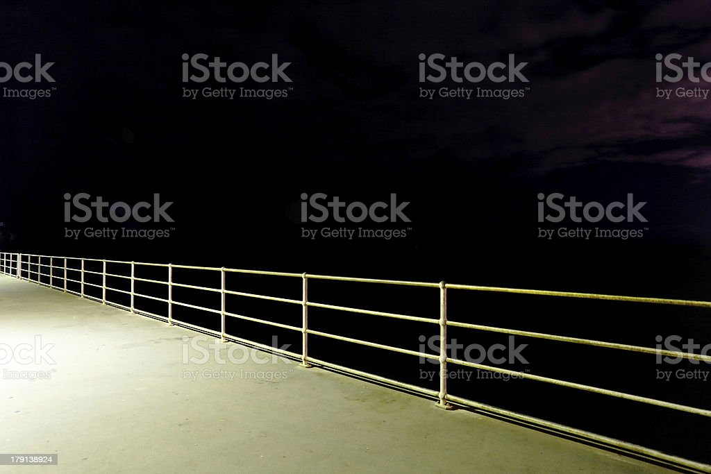 Fence at Night royalty-free stock photo