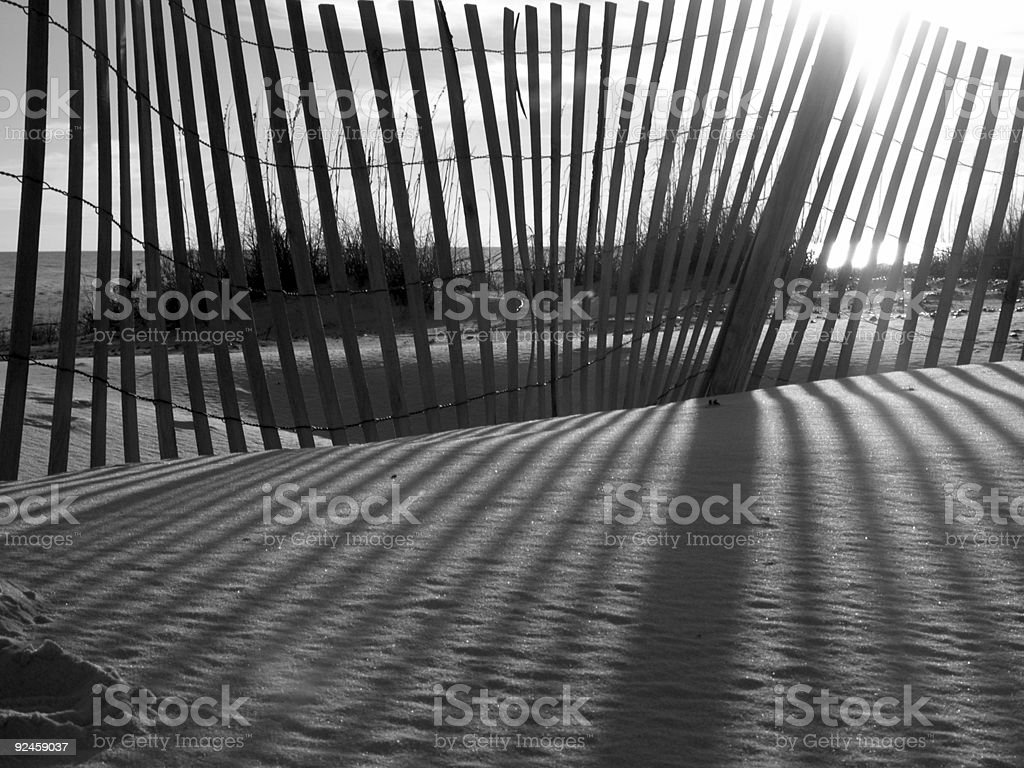 Fence at sunset royalty-free stock photo