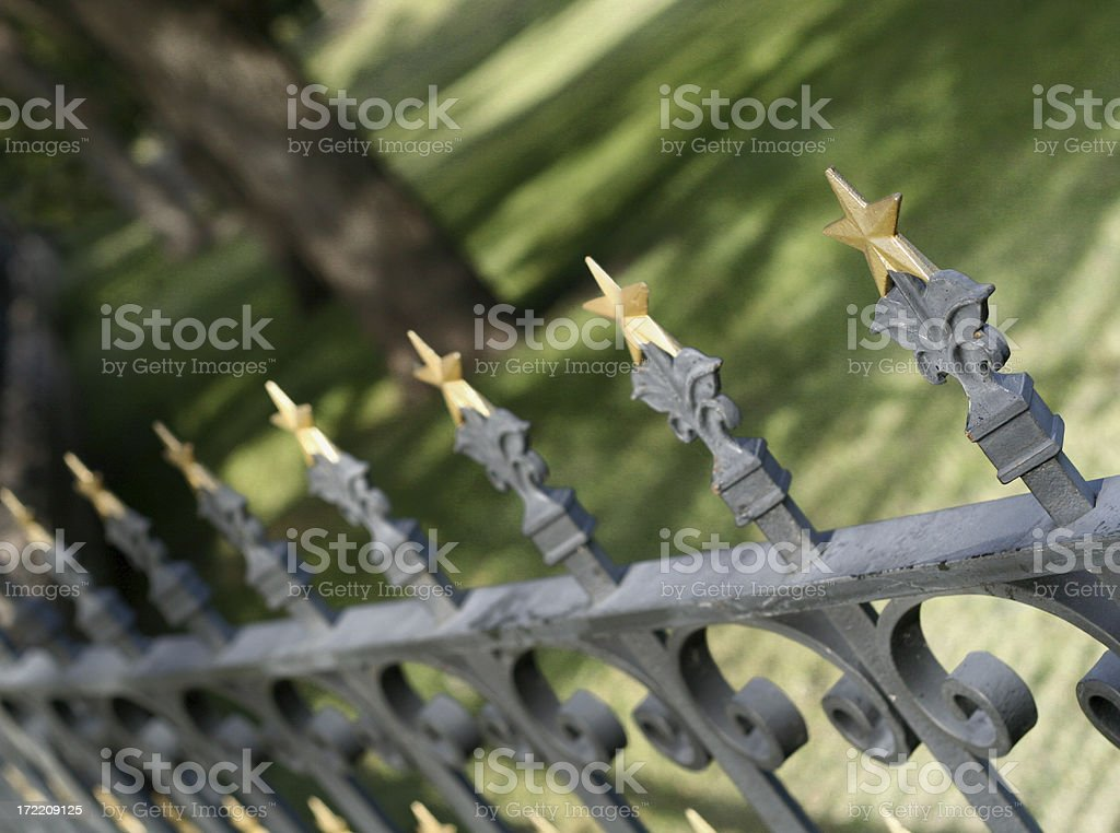 Fence at Texas Capitol royalty-free stock photo