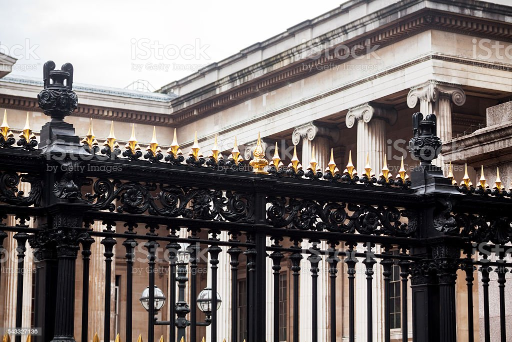 Fence at Whitehall stock photo