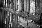 Fence background black and white