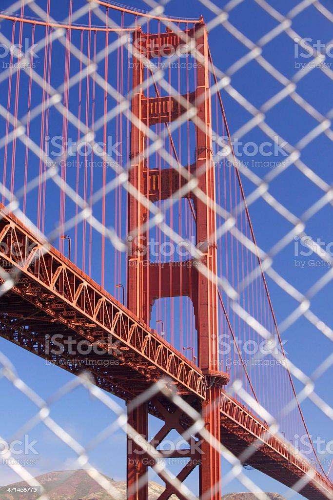 Fence Bridge Tower royalty-free stock photo