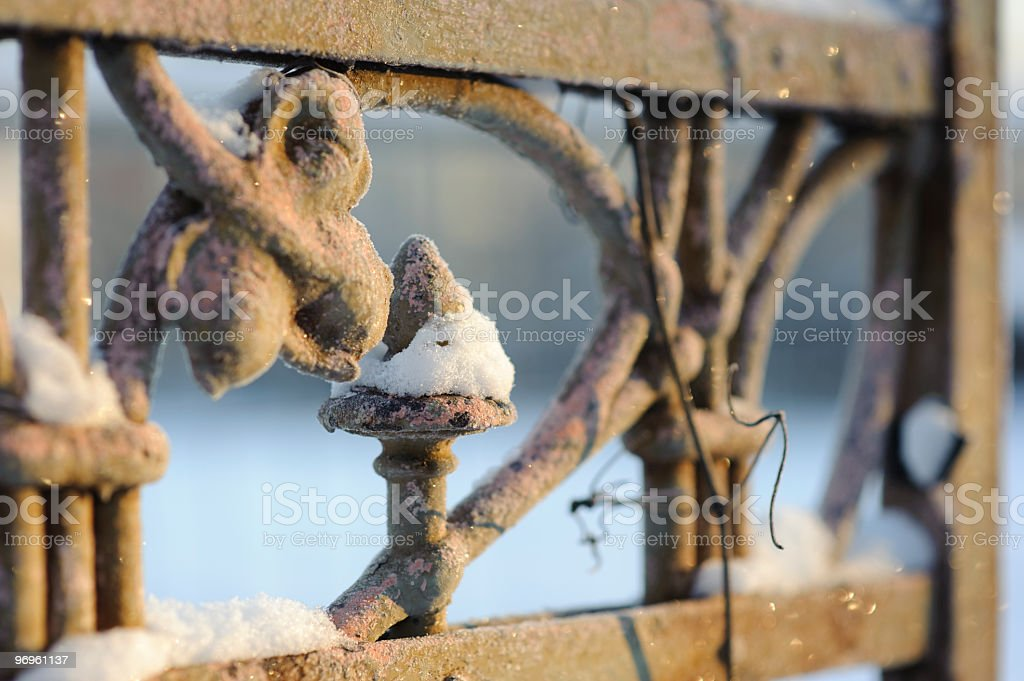fence detail royalty-free stock photo