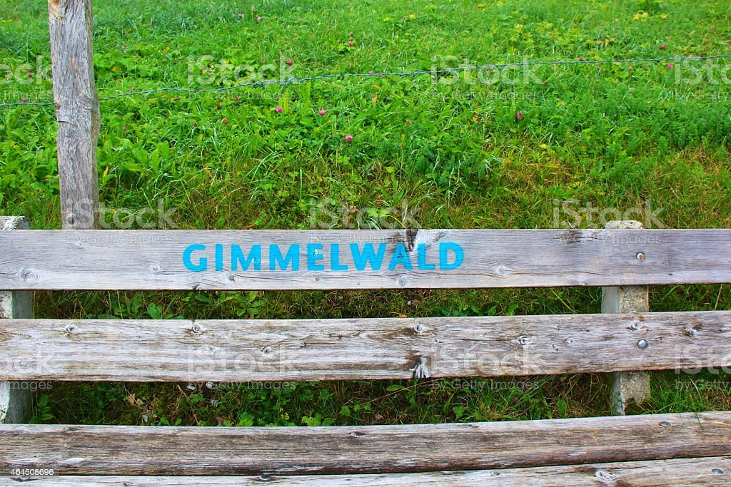fence from Gimmelwald stock photo