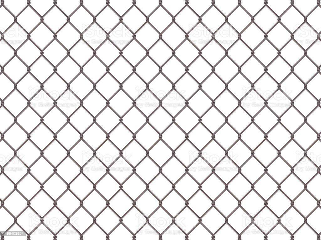 Fence from rusty mesh stock photo
