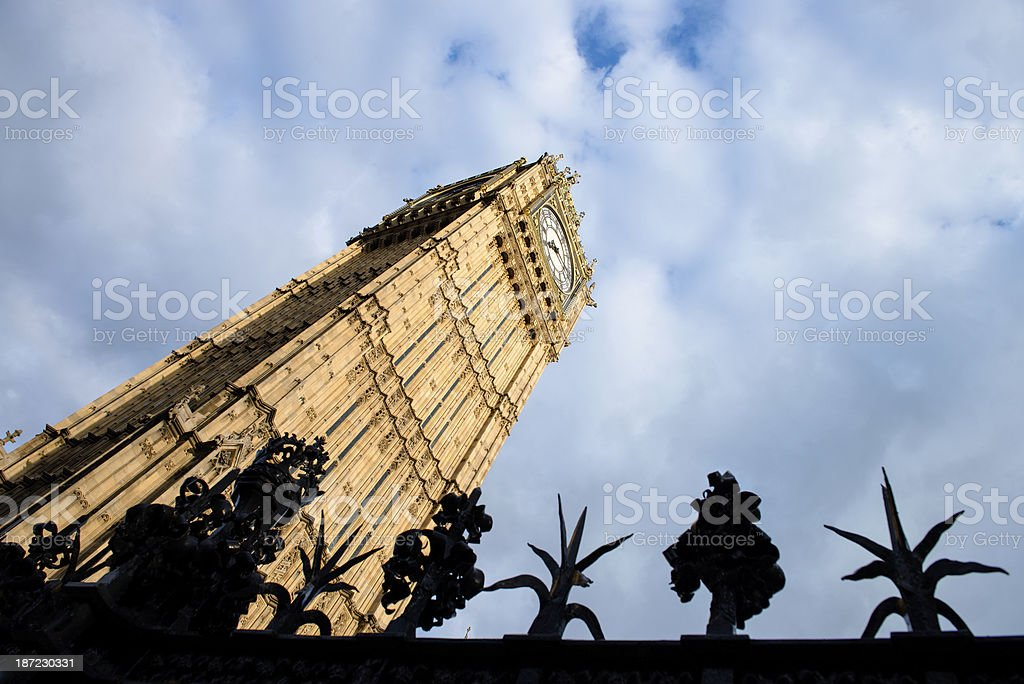 fence in front of Big Ben royalty-free stock photo
