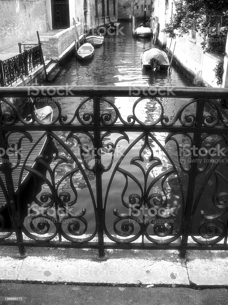 fence in Venice royalty-free stock photo