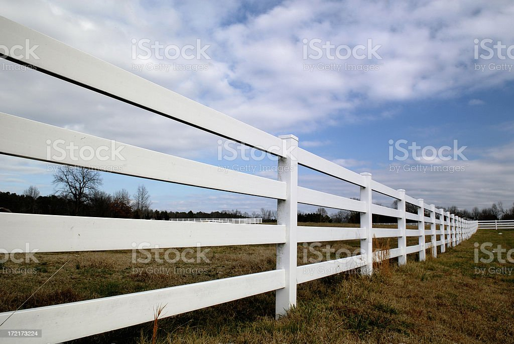 Fence line royalty-free stock photo