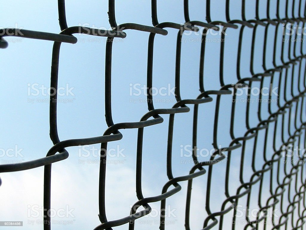 Fence Link royalty-free stock photo