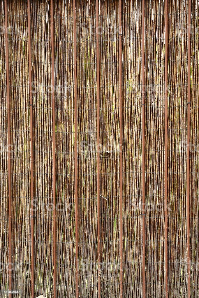 Fence made of reed - natural texture stock photo