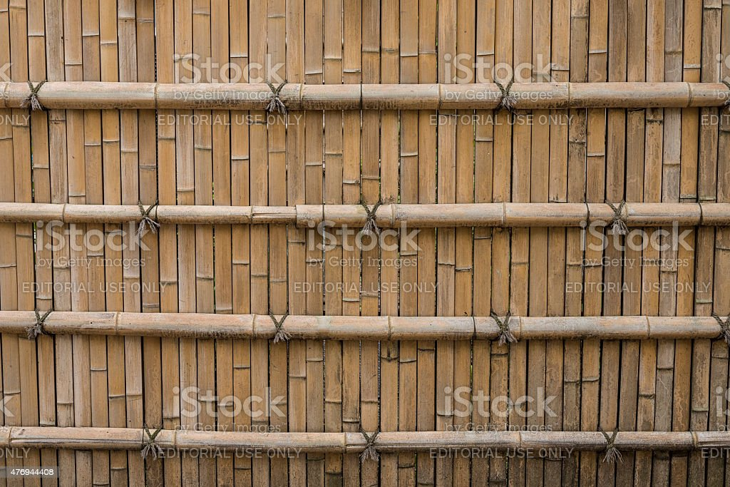 Fence of bamboo royalty-free stock photo