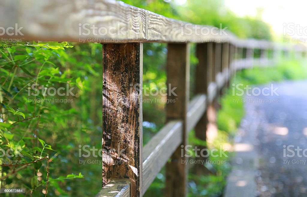 Fence of the sidewalk foto de stock libre de derechos