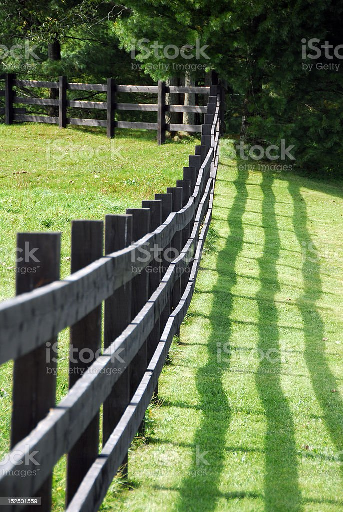 Fence on a field royalty-free stock photo