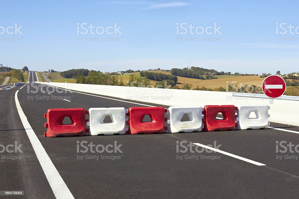 Fence on the highway royalty-free stock photo