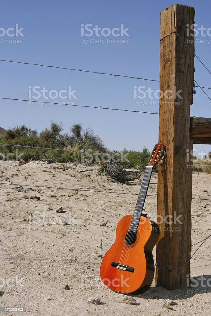 Fence Post Guitar royalty-free stock photo