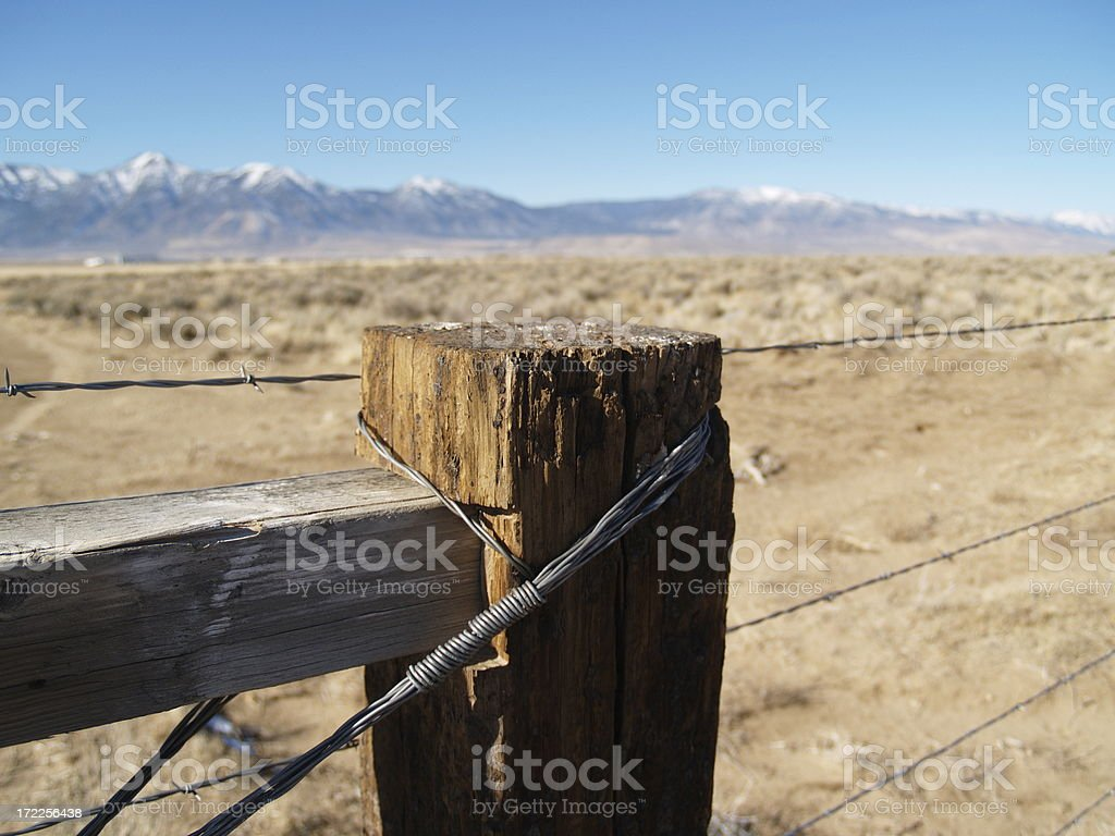 Fence Post - Out West royalty-free stock photo