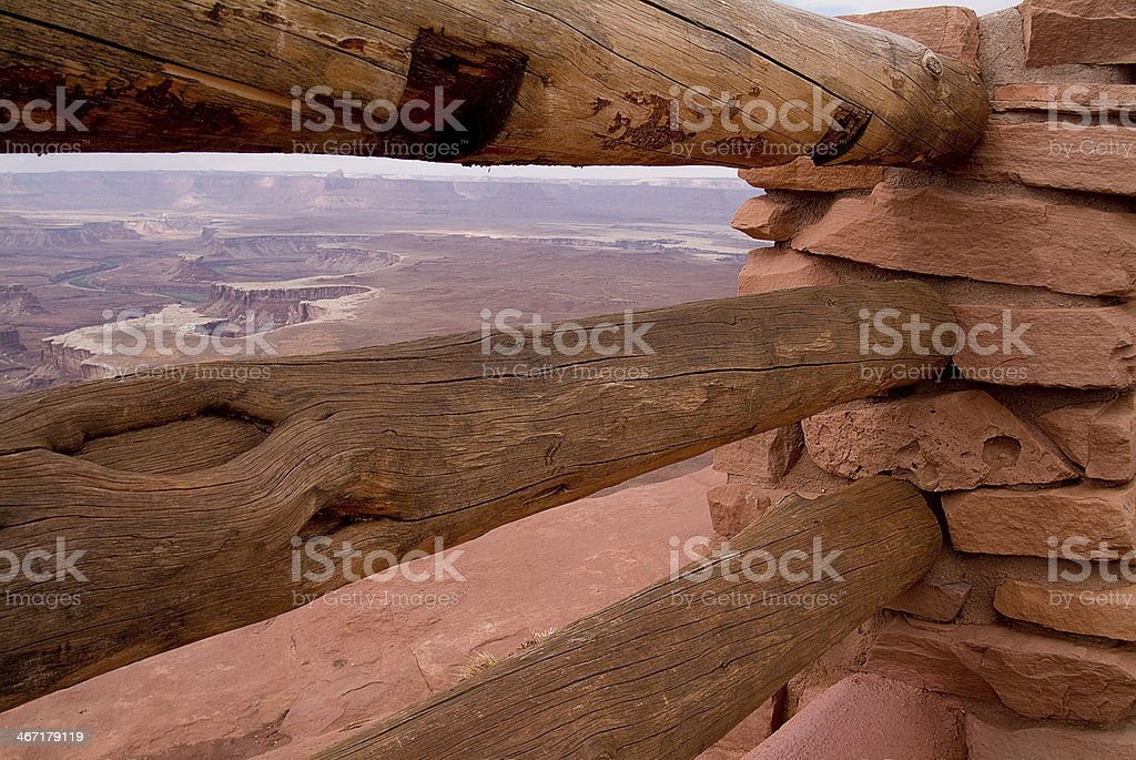 Fence Post Scenic Lookout Canyonlands Park Utah High Desert Southwest royalty-free stock photo