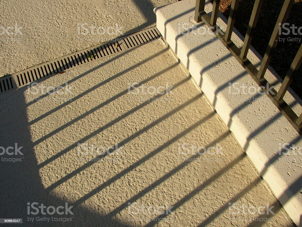 Fence Shadow royalty-free stock photo