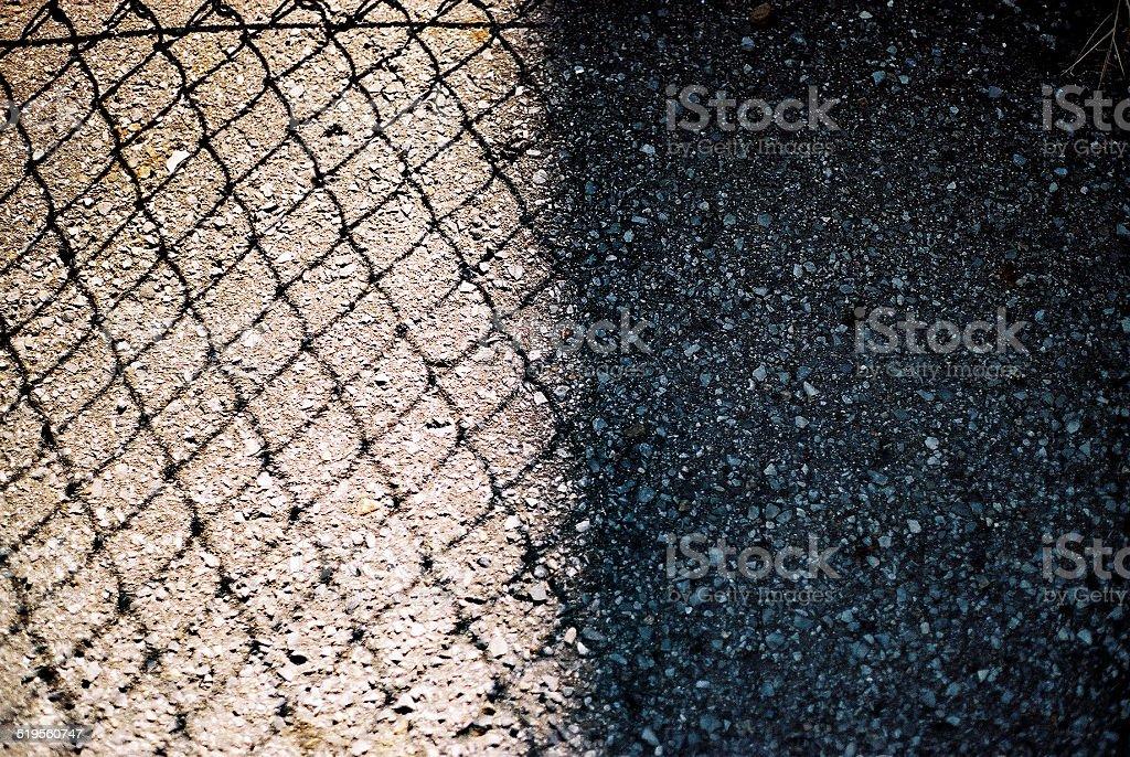 Fence Shadows stock photo