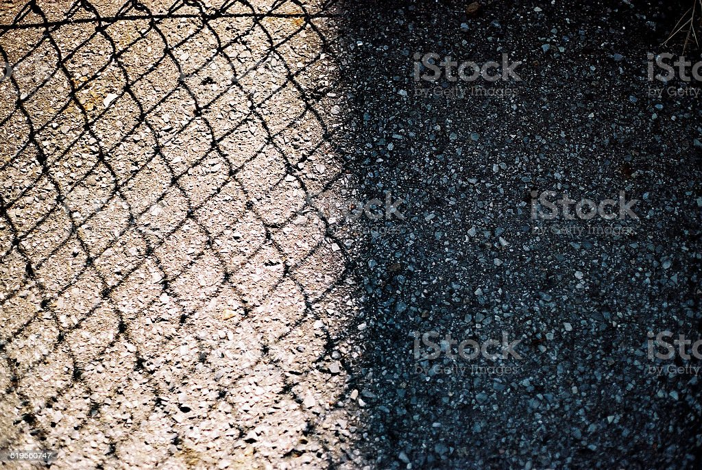 Fence Shadows stock photo