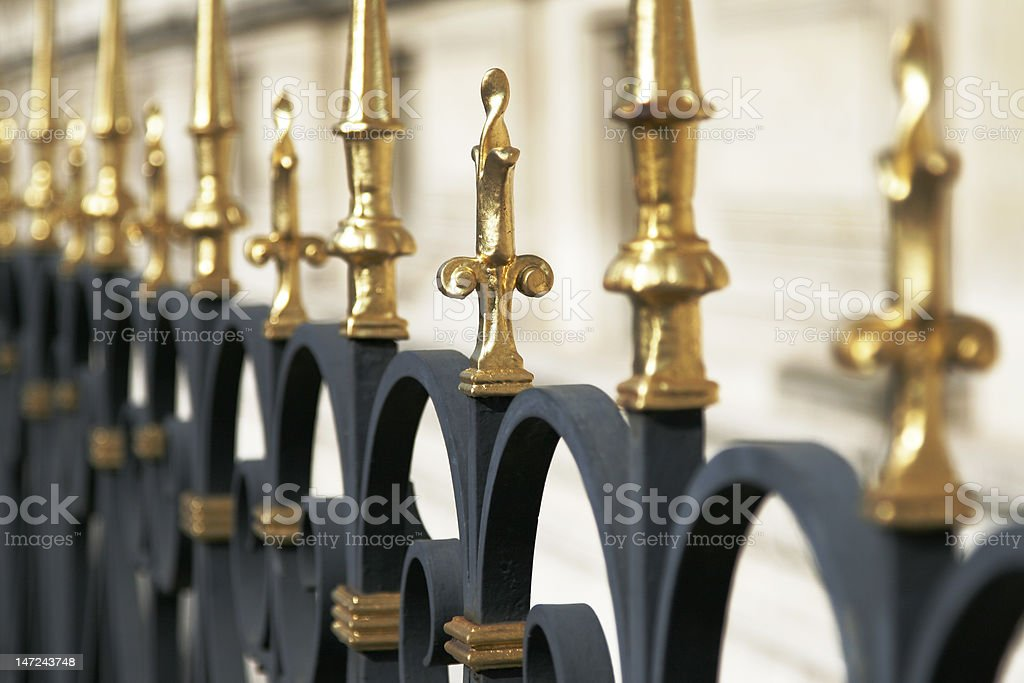 Fence Spike Detail stock photo
