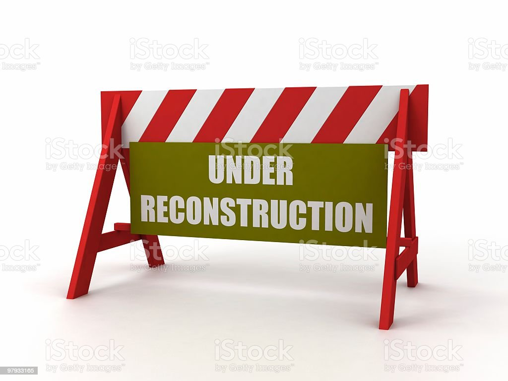 Fence 'Under reconstruction' royalty-free stock photo