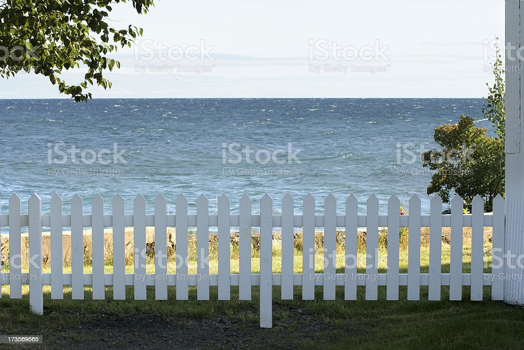 Fence & Water stock photo