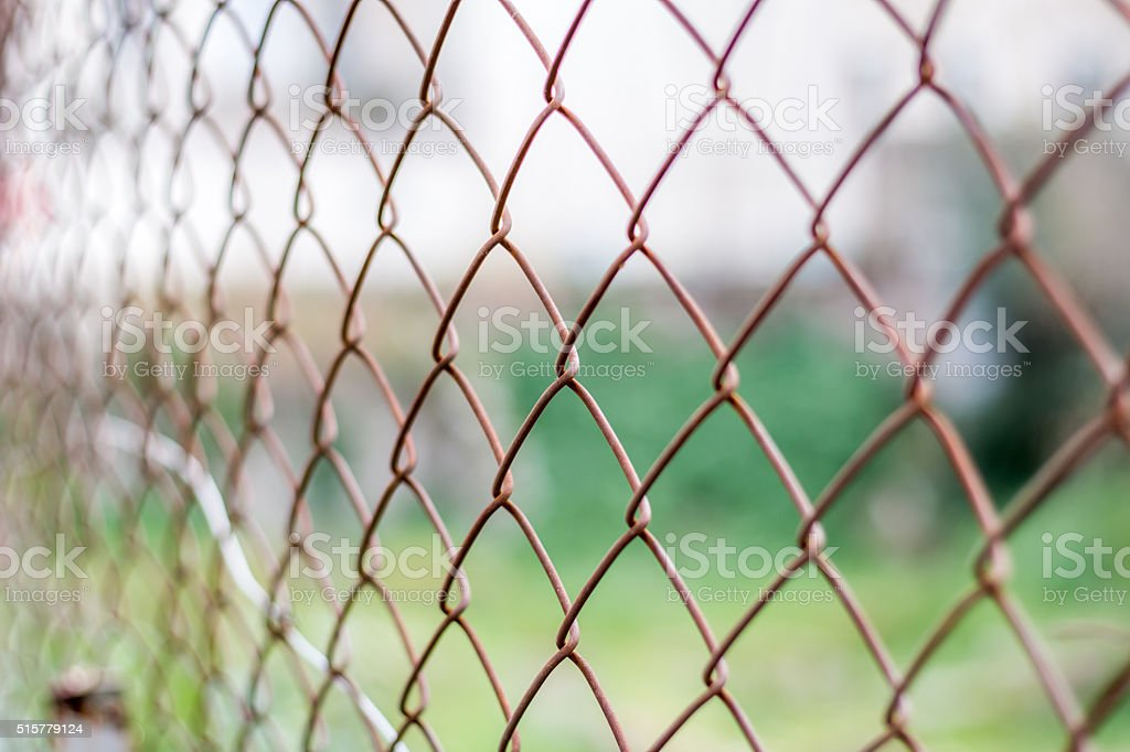 Fence with a blurry background stock photo