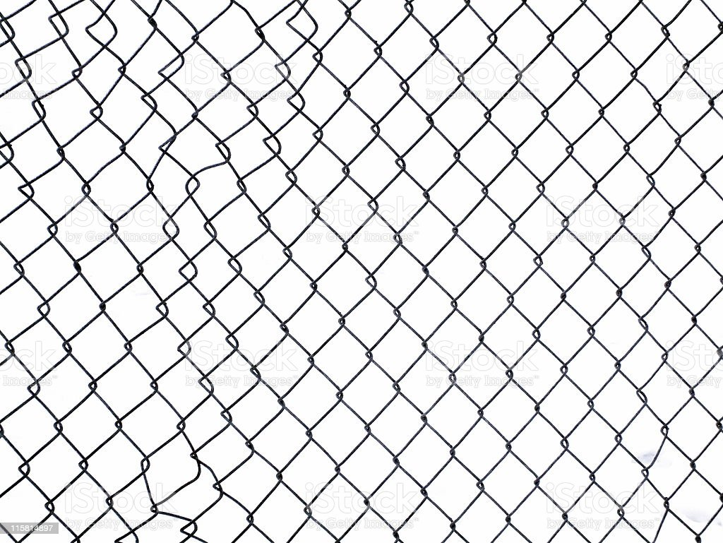 Fence with Clipping path royalty-free stock photo
