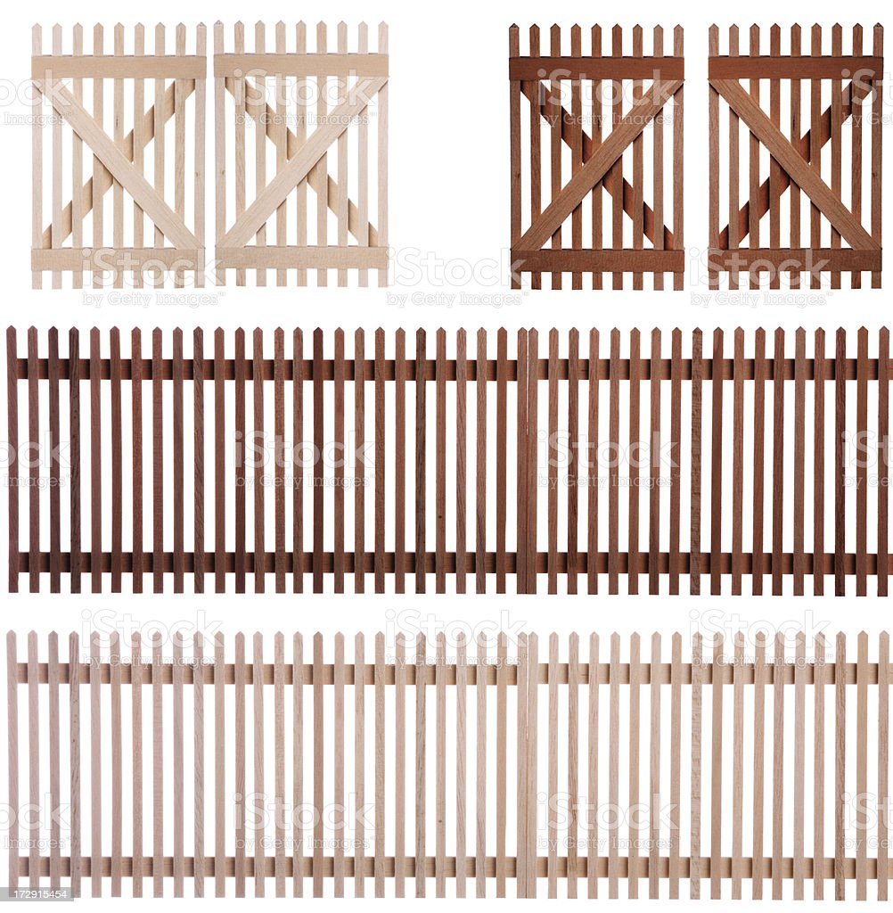 fence with clipping path stock photo