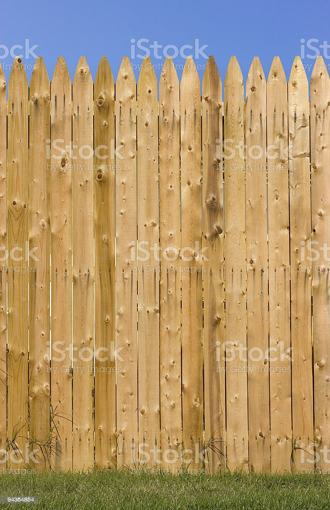 Fence with copyspace stock photo