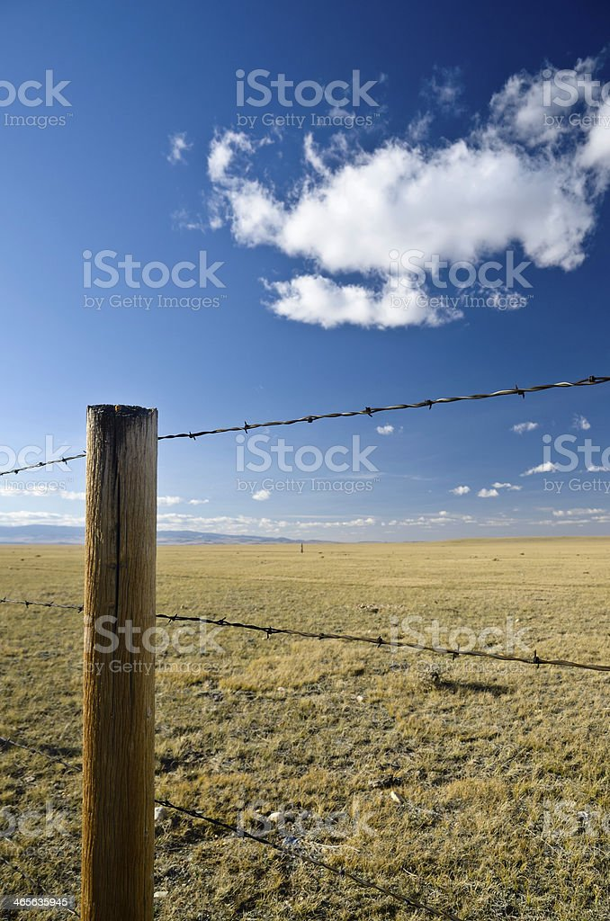 Fence, Wyoming stock photo