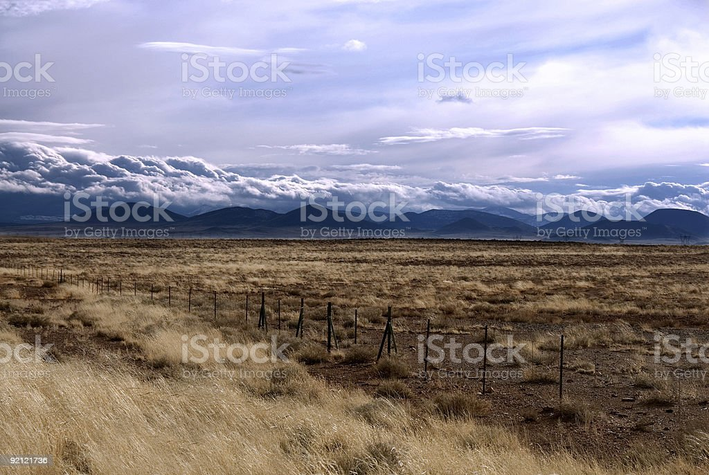 Fenced Desert royalty-free stock photo