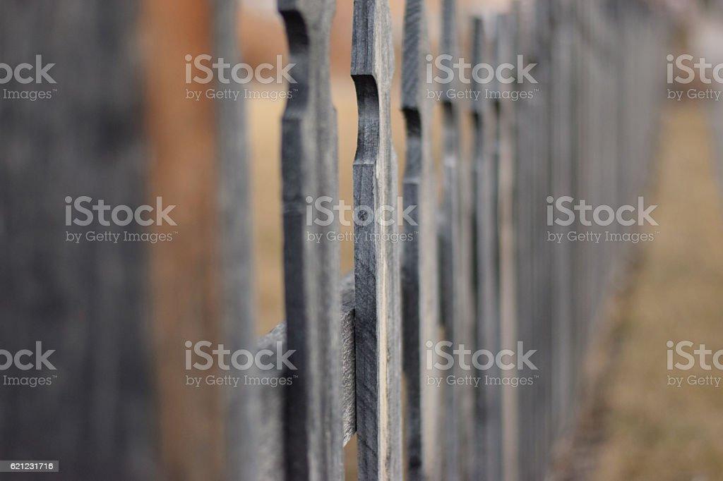 Fenced Focus stock photo