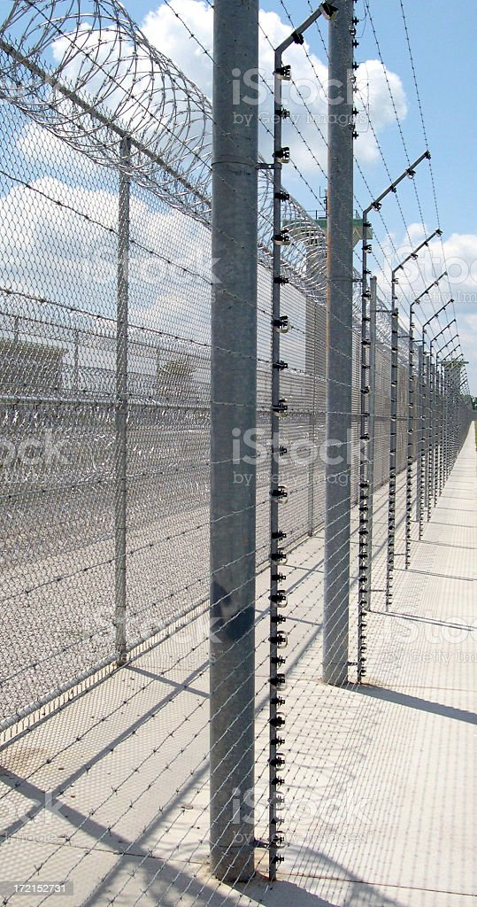 Fenced In stock photo