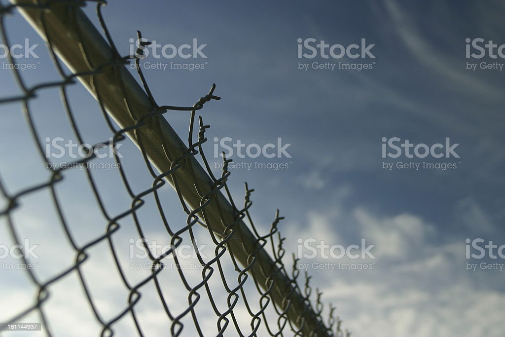 Fenced In Sky royalty-free stock photo