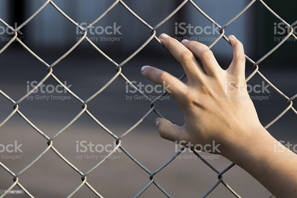 fenced royalty-free stock photo