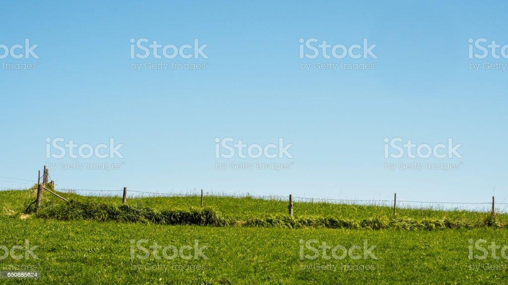 Fenced stock photo