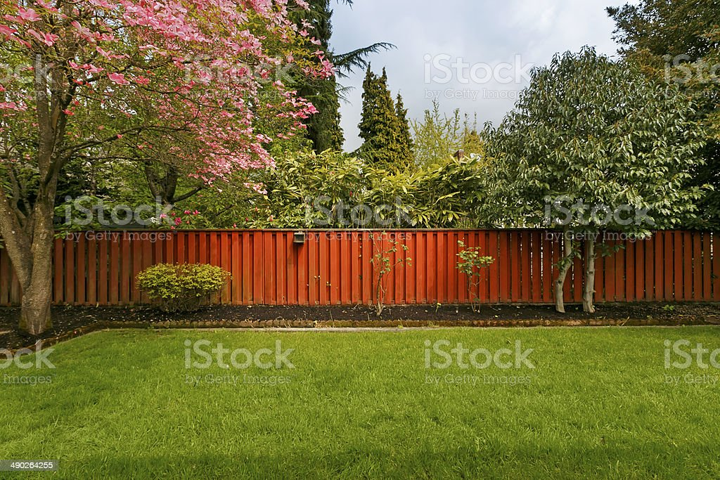 Fenced Yard stock photo