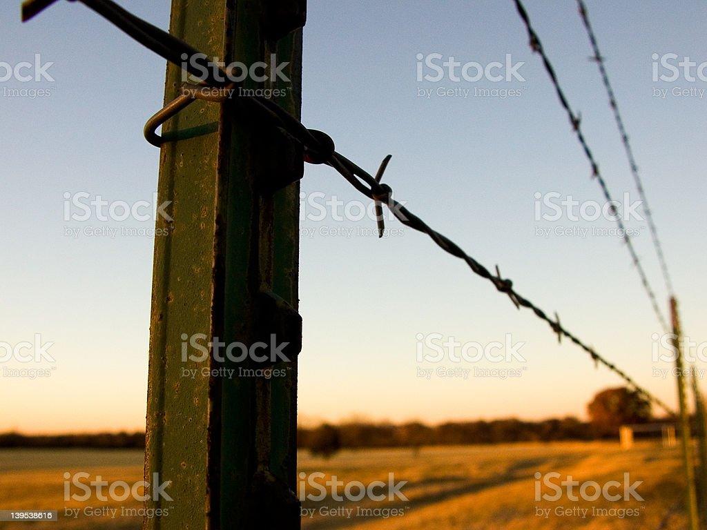 Fencepost royalty-free stock photo