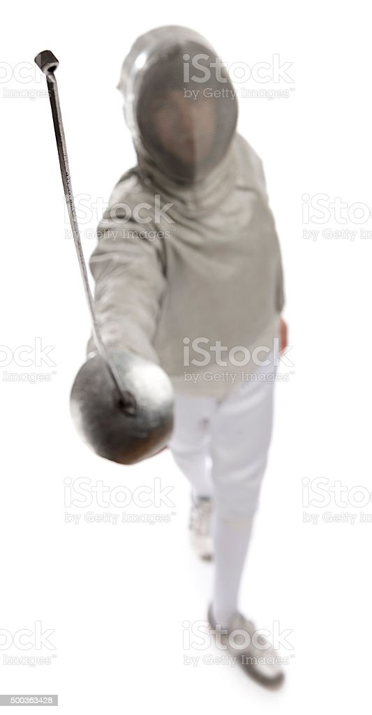 Fencer From Above stock photo